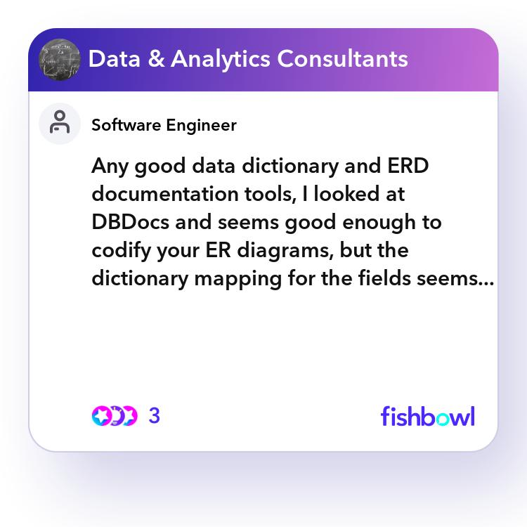 Any Good Data Dictionary And Erd Documentation Tools  I