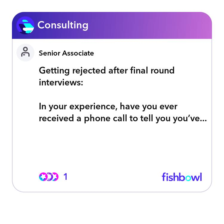 Getting rejected after final round interviews: In your