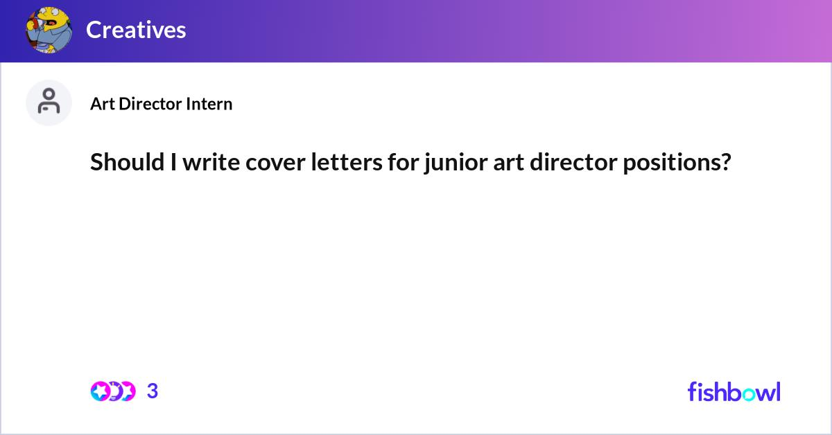 Art Director Cover Letter Primary Design Useful